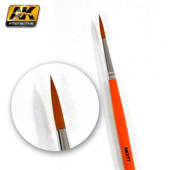 AK Interactive Synthetic Fine Long Weathering Brush