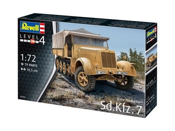 Revell 1/72 Scale - Sd.Kfz.7 (Late Production)