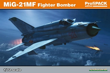 Eduard 1/72 Scale - MiG-21MF Fighter Bomber Profipack Edition