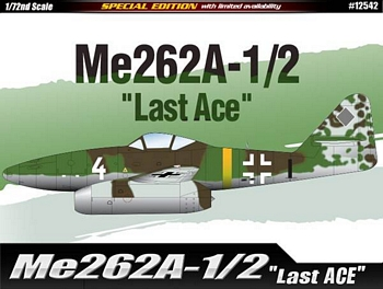 "Academy 1/72 Scale - Me262 A-1/2 ""Last Ace"""