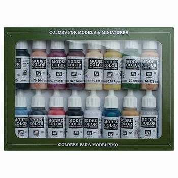 Model Color Native Americans Paint Set