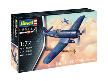 Revell 1/72 Scale - Vought F4U-1B Corsair Royal Navy