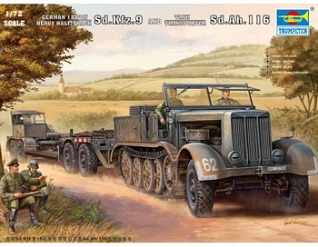 Trumpeter 1/72 Scale - Sd.Kfz.9 (18t) Half-Track & Sd.Ah.116