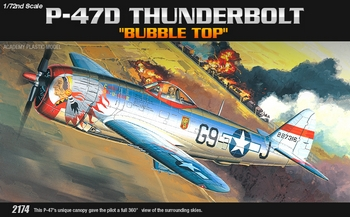 Academy 1/72 Scale - P-47D Thunderbolt Bubble Top