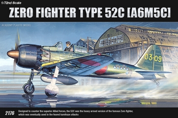 Academy 1/72 Scale - A6M5c Zero Fighter Type 52c