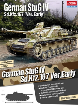 Academy 1/35 Scale - German StuG IV Sd.Kfz167 Early Version