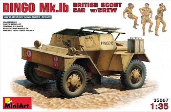 MiniArt 1/35 Scale - Dingo Mk.1b British Scout Car w/Crew