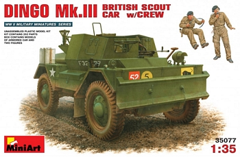 MiniArt 1/35 Scale - Dingo Mk.III British Scout Car W/Crew