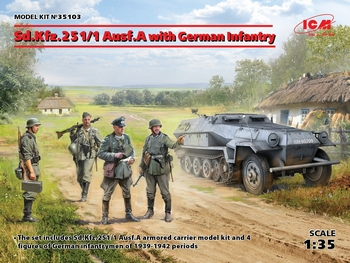 ICM 1/35 Scale - Sd.Kfz.251/1 Ausf.A with German Infantry