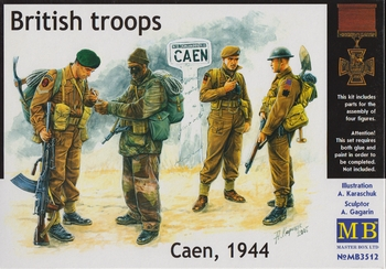 Masterboxc 1/35 Scale - British Troops, Caen 1944