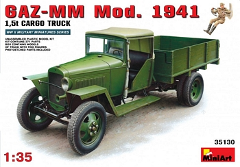 MiniArt 1/35 Scale - GAZ-MM Mod.1941 1.5T Cargo Truck