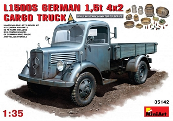 MiniArt 1/35 Scale - L1500S German 1,5t 4x2 Cargo Truck