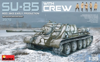 MiniArt 1/35 Scale - SU-85 Early Production Mod.1943 with Crew