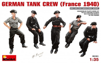 MiniArt 1/35 Scale - German Tank Crew (France 1940)