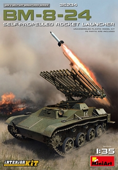 MiniArt 1/35 Scale - BM-8-24 Self Propelled Rocket Launcher