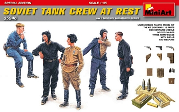 MiniArt 1/35 Scale - Soviet Tank Crew At Rest