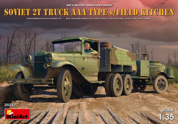 MiniArt 1/35 Scale - Soviet 2T Truck AAA Type w/Field Kitchen