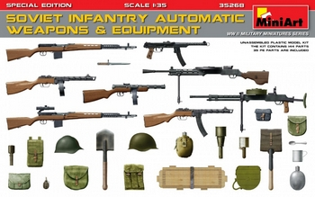 MiniArt 1/35 Scale - Soviet Infantry Automatic Weapons & Equipme