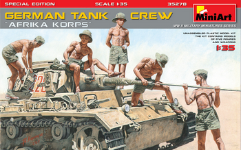 "MiniArt 1/35 Scale - German Tank Crew ""Afrika Korps"""