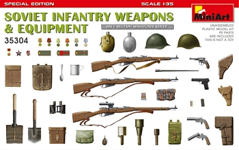 MiniArt 1/35 Scale - Soviet Infantry Weapons & Equipment