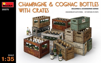 MiniArt 1/35 Scale - Champagne & Cognac Bottles with Crates