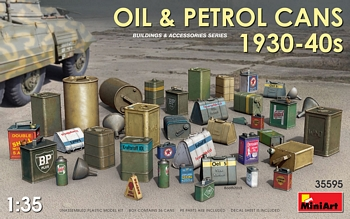 Miniart 1/35 Scale - Oil & Petrol Cans 1930-40's