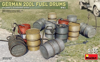 MiniArt 1/35 Scale - German 200l Fuel Drums