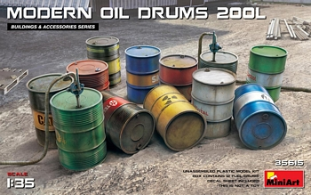 Miniart 1/35 Scale - Modern Oil Drums 200L