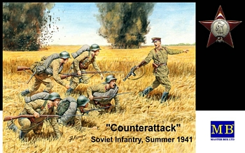 Masterbox 1/35 Scale - Counterattack, Soviet Infantry, Summer 19