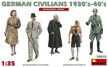 MiniArt 1/35 Scale - German Civilians 1930's-40's