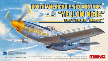 "Meng 1/48 Scale - North American P-51D Mustang ""Yellow Nose"""
