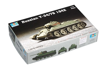 Trumpeter 1/72 Scale - Russian T-34/76 1942