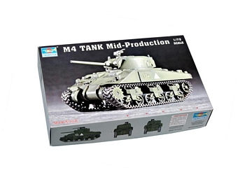 Trumpeter 1/72 Scale - M4 Sherman Tank Mid-Production