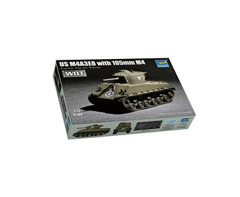 Trumpeter 1/72 Scale - US M4A3E8 with 105mm M4 Sherman Tank