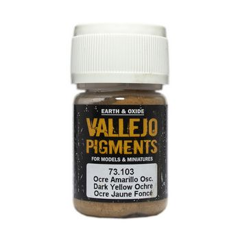 Vallejo Pigment 73103 Dark Yellow Ochre 30ml