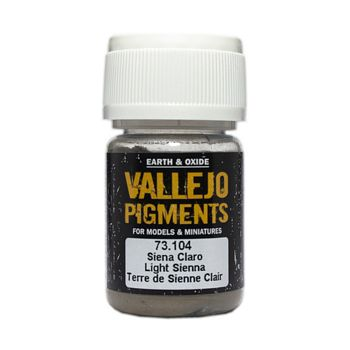 Vallejo Pigment 73104 Light Sienna 30ml