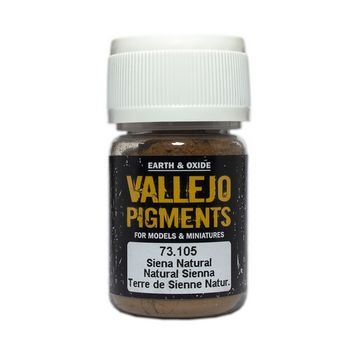 Vallejo Pigment 73105 Natural Sienna 30ml