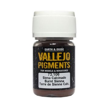 Vallejo Pigment 73106 Burnt Sienna 30ml