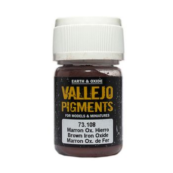 Vallejo Pigment 73108 Brown Iron Oxide 30ml