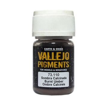 Vallejo Pigment 73110 Burnt Umber 30ml