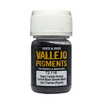 Vallejo Pigment 73116 Carbon Black (Smoke Black) 30ml