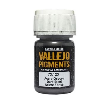Vallejo Pigment 73123 Dark Steel 30ml