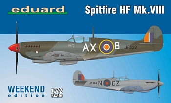 Eduard 1/72 Scale - Spitfire HF MK. VIII Weekend Edition