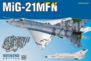 Eduard 1/72 Scale - MiG-21MFN Weekend Edition