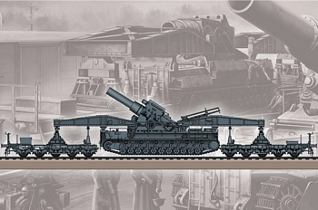 Hobbyboss 1/72 Scale - German KARL-Geraet 040/041 on Railway
