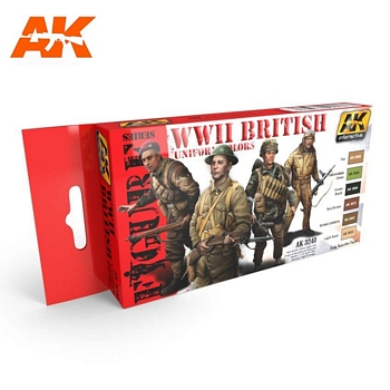 AK Interactive WWII British Uniform Colors