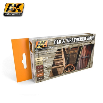 AK Interactive Old & Weathered Wood Vol 1