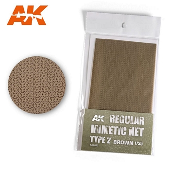 AK Interactive Camouflage Net Type 2 Brown