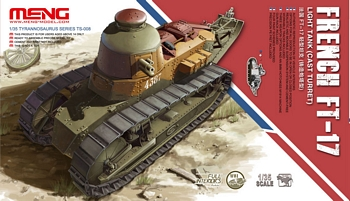 Meng 1/35 Scale - French  Light Tank FT-17 (Cast Turret)