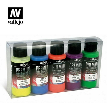 Vallejo Premium Color Fluorescent Colors Set